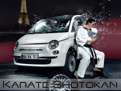 Karaté crash - Fiat 500