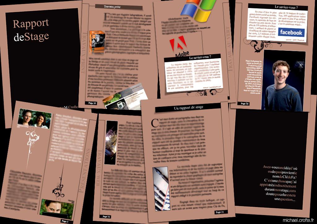 Portfolio Rapport De Fin De Stage Design Bycrofte