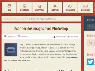 Creative Juiz - Scanner des images avec Photoshop
