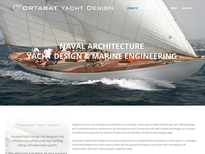 Fortabat Yacht Design - Webdesign WordPress