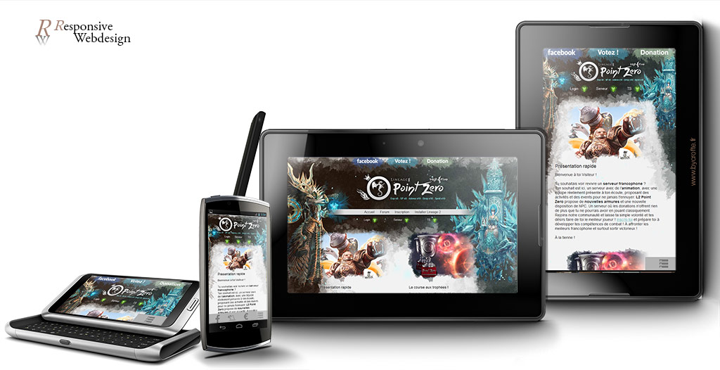 Lineage 2 Point Zero webdesign