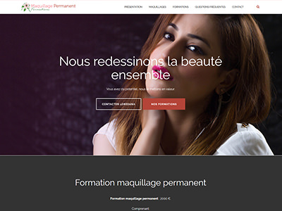 Maquillage Permanent Formations - Webdesign WordPress