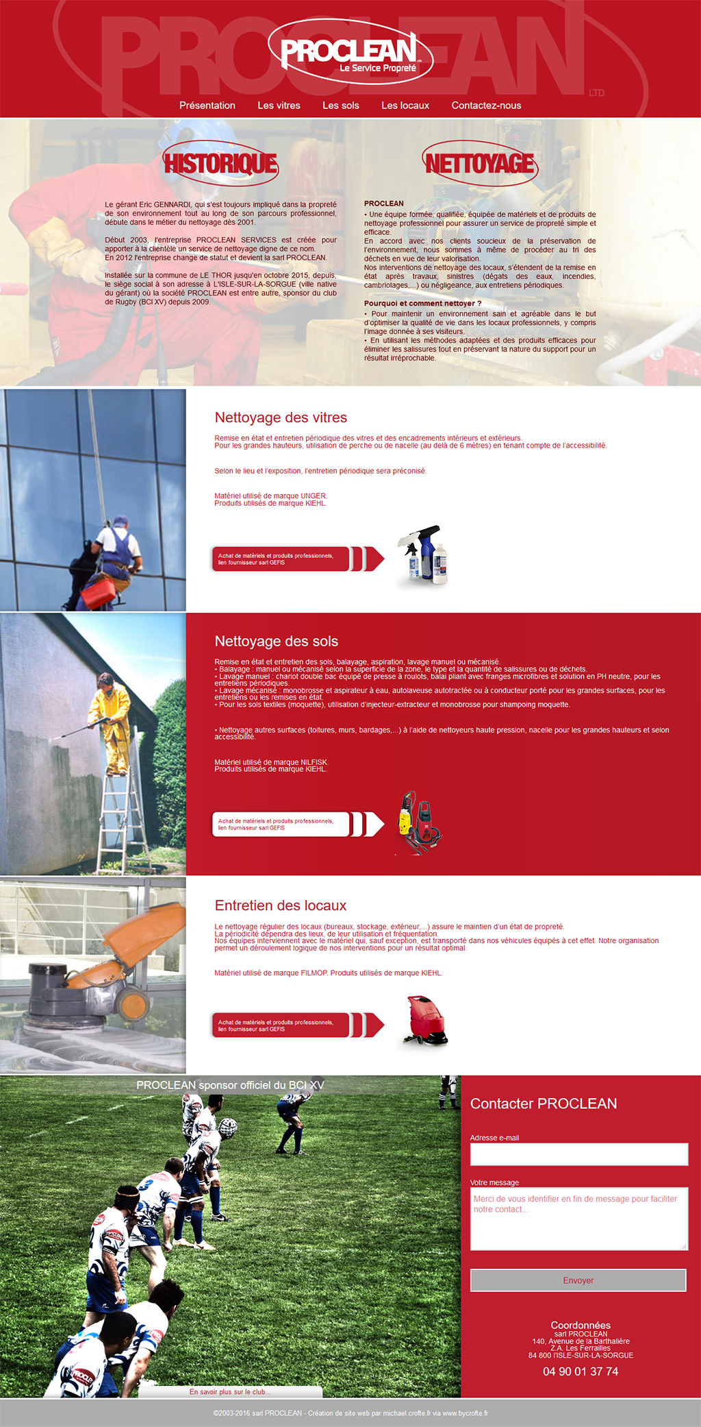 Proclean - Site Internet Onepage