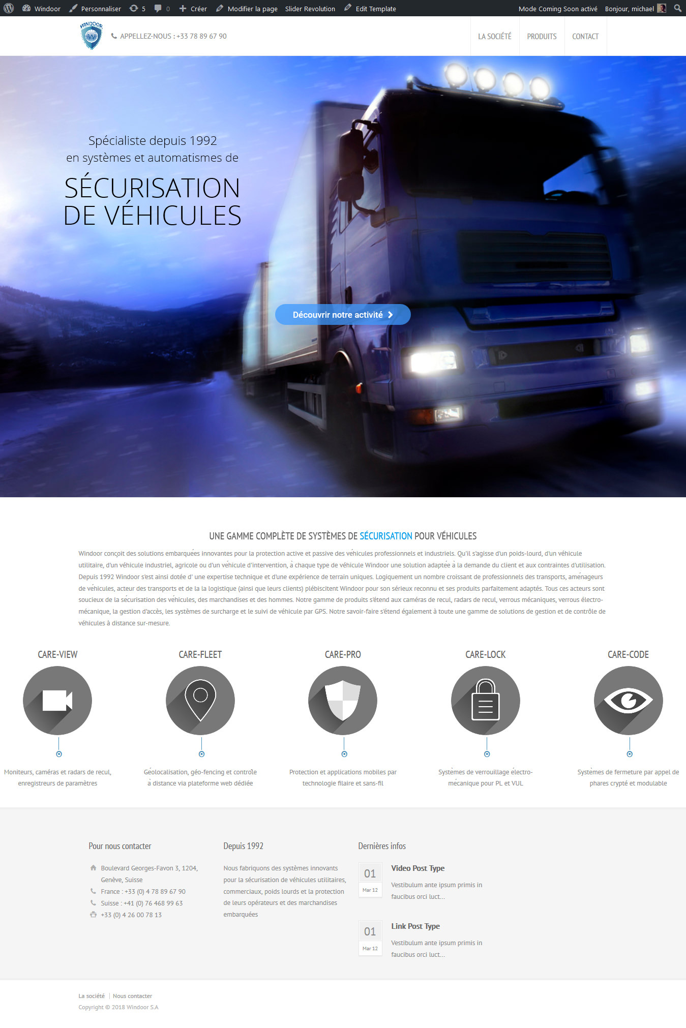 Windoor - Refonte webdesign WordPress